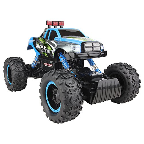 Kycola CS03 Four-Wheel-Drive Large Suv Remote Control Race Car 1/14 Scale High Speed Climbing Remote Control Dune Buggy 2.4GHz Fast Remote Control Truck(Blue)