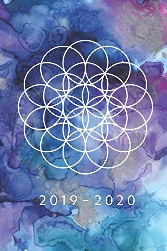 Planner Starting May 2019 - Dec 2020 | 6 x 9 Dated Agenda | Appointment Calendar | Organizer Book | Soft-Cover Flower of Life ()