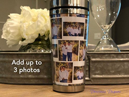 Personalized photo travel mug with lid - photo coffee cup, photo cups, photo gifts, photo coffee mug, mothers day gifts, fathers day gifts. -