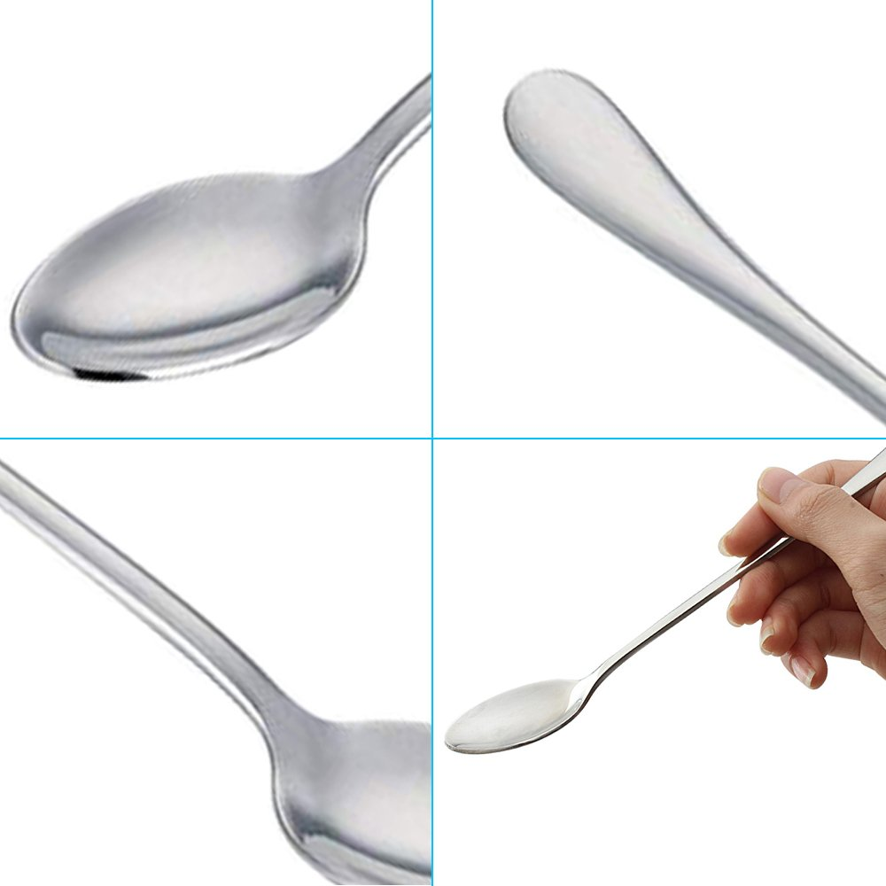 Long Handle Stirring Spoon Cocktail SourceTon Set of 10 Stainless Steel Mixing Spoon for Iced Tea Milkshake Cold Drink- Gold Coffee