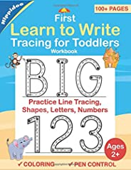 Tracing For Toddlers: First Learn to Write workbook. Practice line tracing, pen control to trace and write ABC