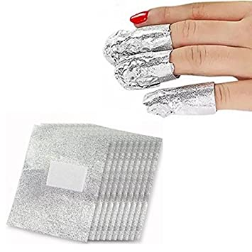 Amazon Bhbuy 100 Pcs Foil Nail Art Soak Off Acrylic Gel Polish