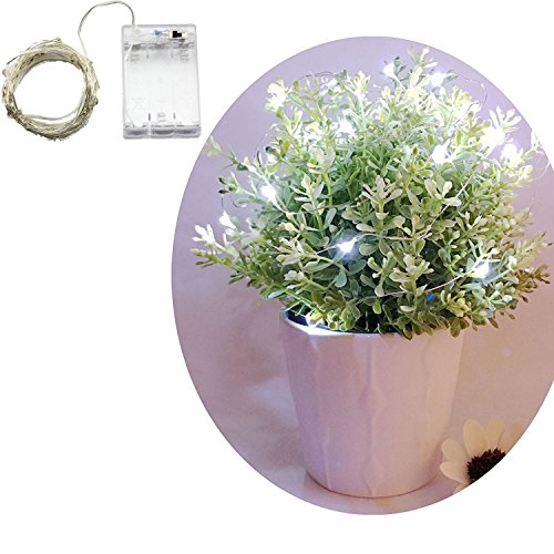 Eastchina| 9ft Battery Operated LED Copper Wire Lights,Decorate for Wedding Halloween Fairy Lights Kid's LED Gift Xmas Tree Lights