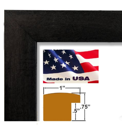 17x22 Custom Nugget Black Picture Poster Photo Frame Wood Composite Elegant One 1 inch wide Moulding