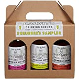 "Calvit's Shrubs - ""Shrubber's Sampler #2"" Gift/Variety Pack — Ginger-Lemongrass • Thai Basil • Tomatillo-Tamarind — Handmade mixer for soft drinks & cocktails (3 x 8 oz.)"