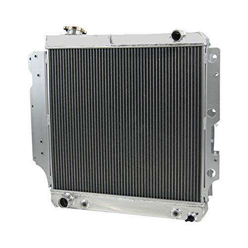 OzCoolingParts 87-06 Jeep Wrangler Radiator, Pro 4 Row Core Full Aluminum Radiator for Jeep Wrangler YJ TJ 1987-2006 1988 1989 1990 04 05 2.4L 2.5L 4.0L 4.2L, L4 L6