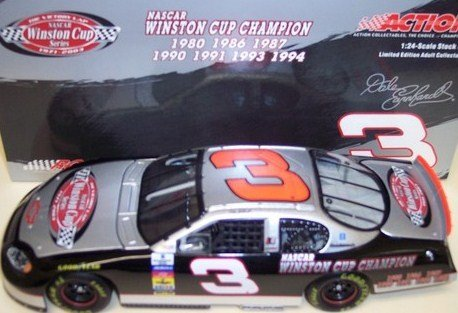 - Dale Earnhardt Sr #3 The Victory Lap 7X Champion Seven Time Champion Monte Carlo 2003 Winston Cup Champ Series 1/24 Scale Diecast Hood Opens , Trunk Opens HOTO Action Racing Collectibles ARC Limited Edition