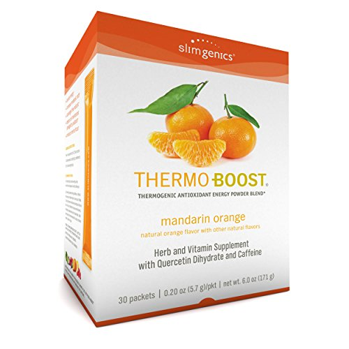 SlimGenics Thermo-Boost ® | Thermogenic Powder Energy Drink Mix - Antioxidant, Anti-Aging Properties - Metabolism Booster, Weight Loss for Women - Fights Fatigue and Inflammation (Mandarin - Booster Antioxidant