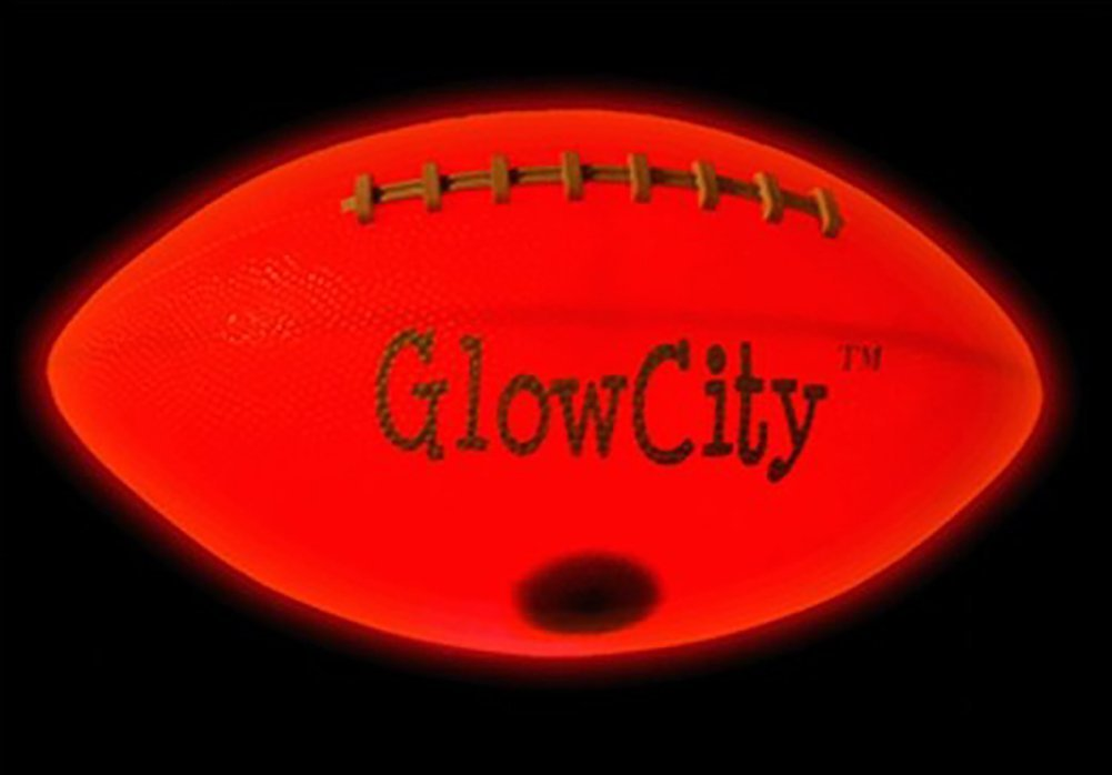 GlowCity Light Up LED Football-Youth Size-Better for Smaller Hands by GlowCity