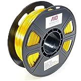 AIO Robotics AIOGOLDSILK PLA 3D Printer Filament, 0.5 kg Spool, Dimensional Accuracy +/- 0.02 mm, 1.75 mm, Silk Gold
