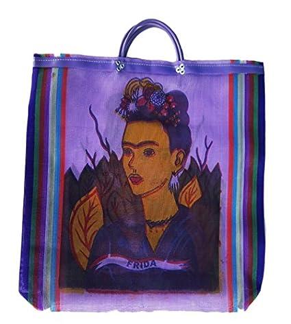 299aaa53da28 Amazon.com: Frida Mesh market bag Recycled, mexican wholesale folk ...