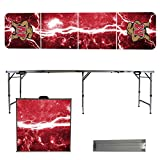 NCAA Maryland Terrapins Lightning Version 8-Feet Portable Folding Tailgate Table