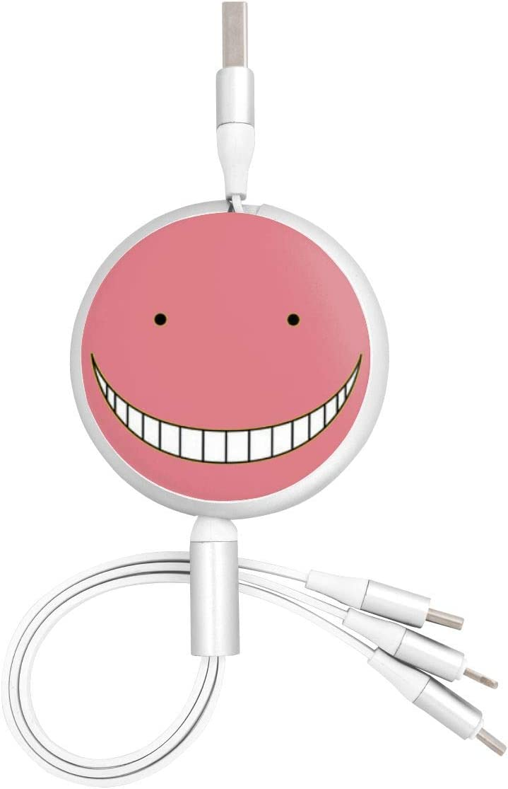 Aluminum Alloy Shell Pc Surface N//C Assassination Classroom Anime Round Three-in-One Charging Cable TPE Cable