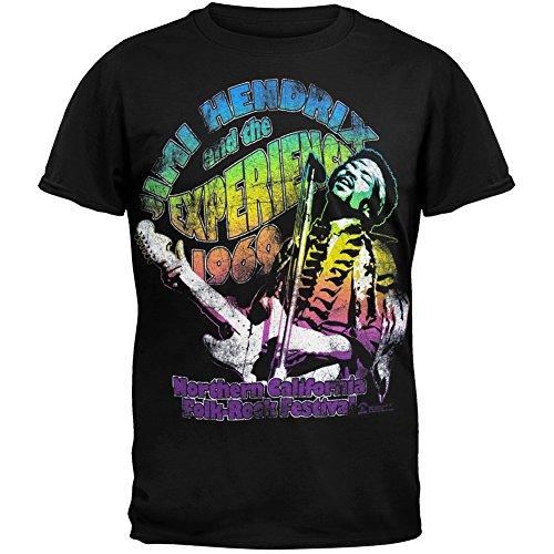 Jimi Hendrix - Folk Festival 1969 T-Shirt - Medium