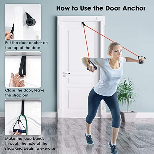 Gym Strength Training Door Anchor /& Storage Bag included Muscle Toning Cikyner Resistance Bands Resistance Tubes Resistance Bands with Handles Exercise Bands Ideal for Home Physical Therapy