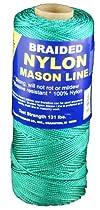 T.W . Evans Cordage 12-506 Number-1 Braided Nylon Mason Line, 1000-Feet, Green