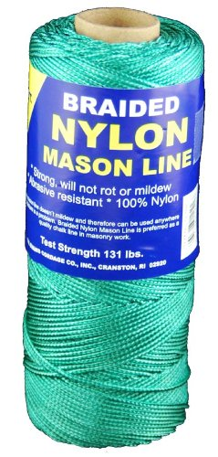 T.W . Evans Cordage 12-505 Number-1 Braided Nylon Mason Line, 250-Feet, Green Braided Nylon Mason Line