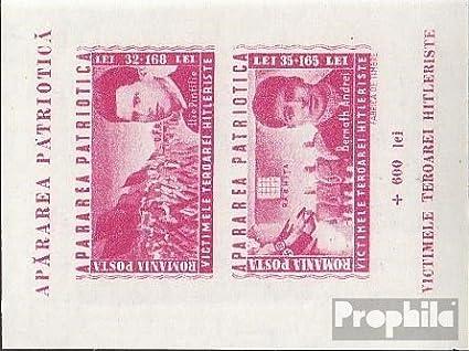 Prophila Collection Rum/änien Block27 Briefmarken f/ür Sammler kompl.Ausg. 1945 Antifaschistische Widerstandsk/ämpfe