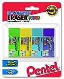 Pentel Hi-Polymer Block Eraser Small, Assorted Colors, Pack of 4 (ZEH05CRBP4M)