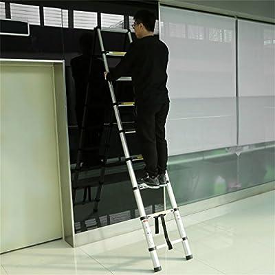 Escalera telescópica de aleación de aluminio retráctil y multifunción, extensible y plegable, 2,6 m a 3,8 m, 2.6m, 2.6M: Amazon.es: Bricolaje y herramientas