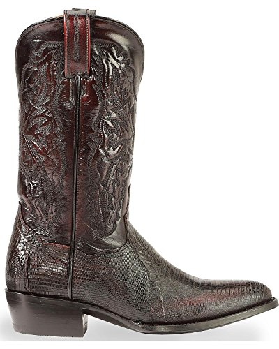 Boots Western Mens Cowboy Company Post Boot Dan Cherry Black gYqvW
