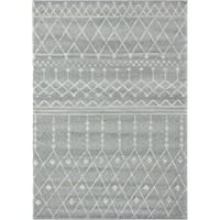 Farmhouse 316 Grey Linen distressed vintage style new area rug large boho (5.1 x 7.1)