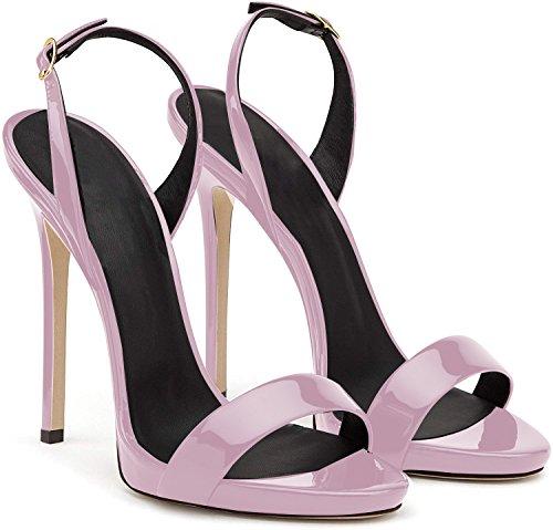della da Sandali Tacco Sandali con Cintura Sandali della Lavanda Alto elashe Caviglia Donna 12CM Scarpe 5wxCHtWqWv