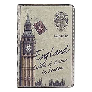Big Ben Pattern PU Leather Full Body Case with Stand for iPad Mini , Red
