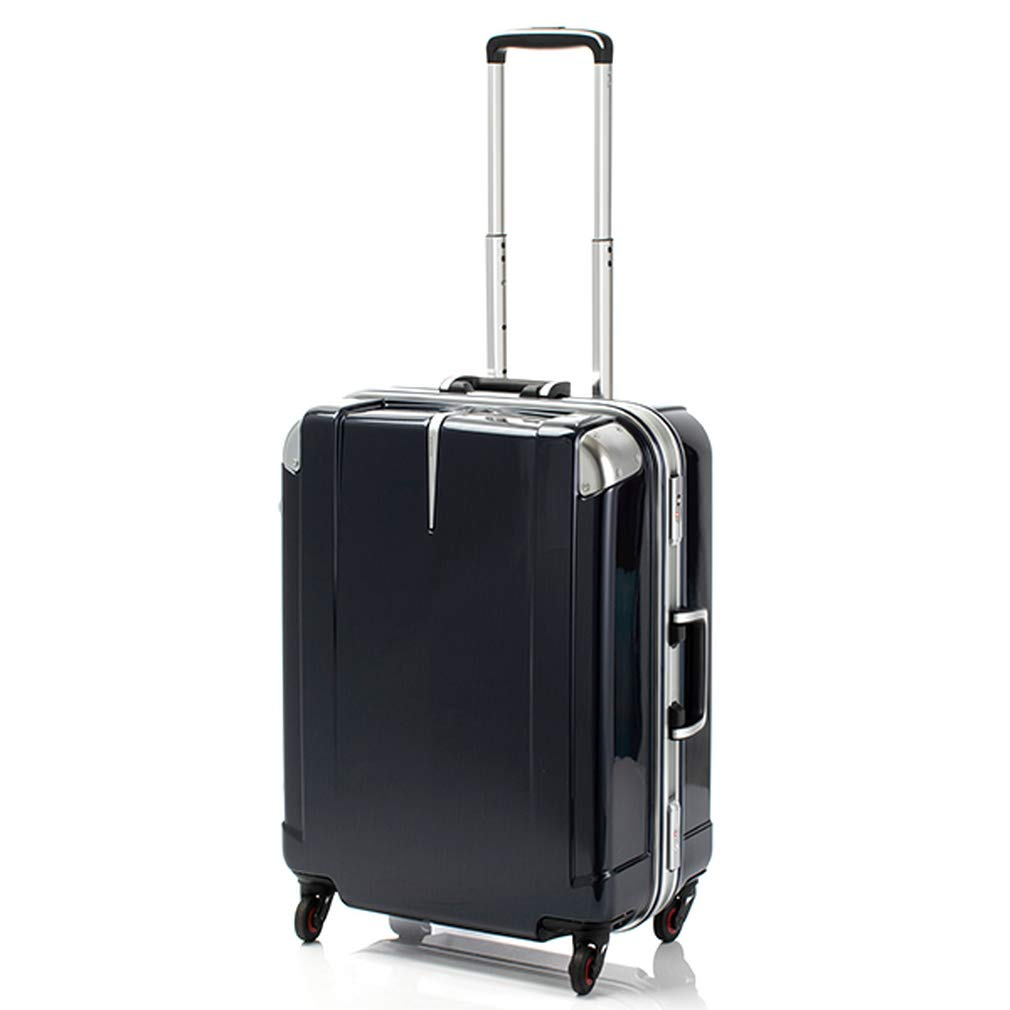 ヒデオワカマツ HIDEO WAKAMATSU スーツケース 85-76432 ステルシー 60L ブルーヘアライン 代引き不可[bg]   B07KHPKZKN