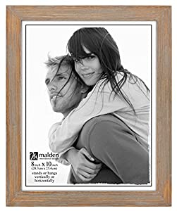 malden international designs linear rustic wood picture frame 8x10 driftwood
