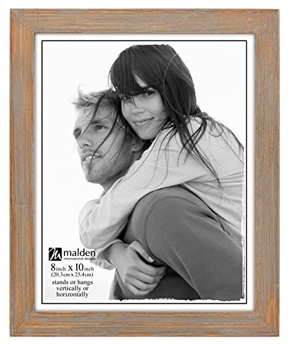 Malden International Designs Linear Rustic Wood Picture Frame, 8x10, Driftwood (Drift Wood Wall)