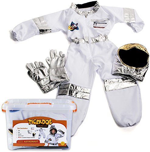 Astronaut Suit For Kids (Astronaut Costume for Kids - Space Costume Accessories with Case - Dress Up Sets - Pretend Play by Tigerdoe)
