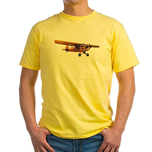 Cub Flying Piper - CafePress - Piper Cub - 100% Cotton T-Shirt, Crew Neck, Comfortable and Soft Classic Tee with Unique Design