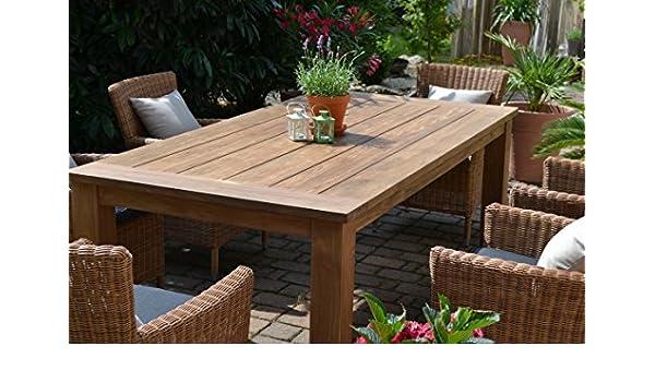 Teca Asiento Grupo mesa Mobiliario de jardín (200 x 100) y 6 ...