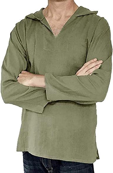 Camisa Camisa De Hombre De para Camisas Lino Ropa Festiva Hombres Sudadera con Capucha Blusa Camisas