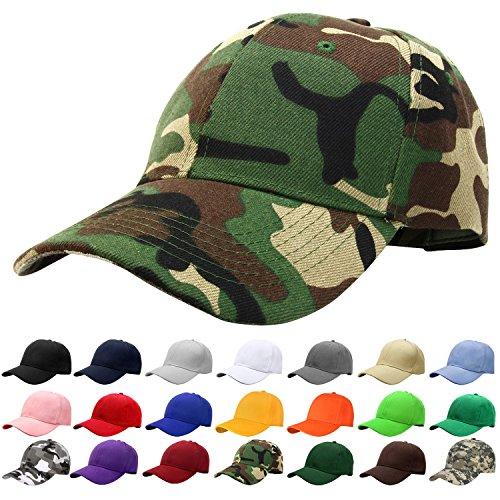 Falari Baseball Cap Adjustable Size Solid Color G001-00-WoodLand