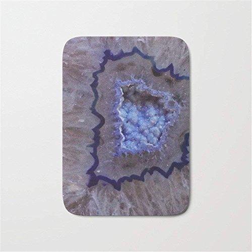 CojicoPily Periwinkle Geode Druzy Crystals Doormat Bath ()