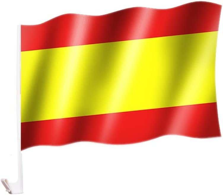 Amazon.es: 2 unidades/1 par Auto Bandera/bandera España/Spain ...