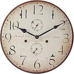 Howard Miller Original III Wall Clock 625-314 - Antique & Round with Quartz Movement