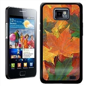 Fancy A Snuggle - Carcasa rígida para Samsung Galaxy S2 i9100, diseño de hojas de otoño