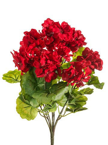 THREE 18u0026quot; Artificial Geranium Flower Bushes In Red For Home, Garden  Decoration