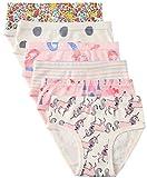 6 Pack Little Girl Underwear Cotton Fit Age 1-7, Baby Girls Panties Toddler Girl's Undies (Unicorn, 4-5 Years/Waist 17.3'',Height 42''-45'')