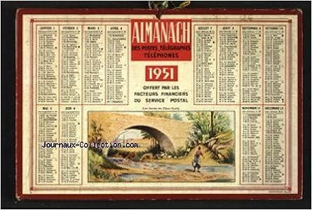 Calendrier 1951.Amazon Fr Calendrier Des Poste Et Des Telecommuncations Du