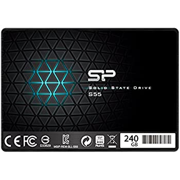 "Silicon Power 240GB SSD 3D NAND With Read Up To 550MB/s S55 TLC 7mm (0.28"") Internal Solid State Drive (SP240GBSS3S55S25AE)"