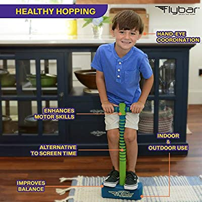 Flybar My First Foam Jump and Squeak Pogo Stick- Safe Pogo Stick for Kids Toddlers Ages 3 & Up (Blue): Toys & Games