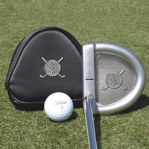 ピューター製ゴルフボール型伝統パター1個。