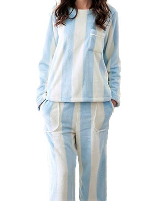 Pijama de Rayas - Manga Larga - Camisones y Pantalones Largos Pijamas para Mujer: Amazon.es: Ropa y accesorios