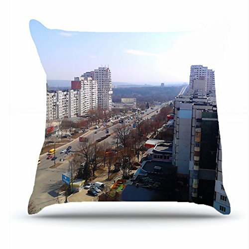 Hubery Throw Pillowcase 18 X 18 Inches 100  Cotton Pillowcases Decorative Cushion Covers With Hidden Zipper Decor   City Chisinau Capital Of Moldova Botanica Sector Images For Car