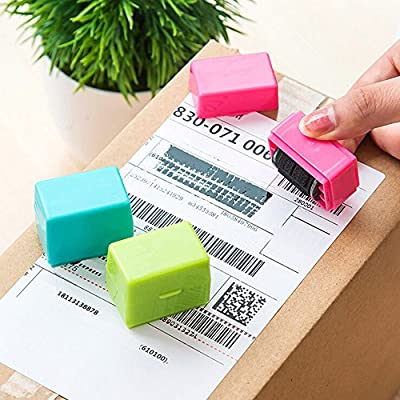 Office Stationery,Ikevan 1Pcs Guard Your ID Roller Stamp SelfInking Stamp Messy Code Security Office