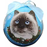 Himalayan Cat Christmas Ornament Shatter Proof Ball Easy To Personalize A Perfect Gift For Himalayan Cat Lovers